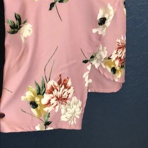 Fashion Nova Other - Fashion Nova romper dusty rose floral adj straps